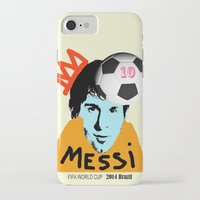 messi iPhone & iPod Cases featuring Messi by SNACKONART