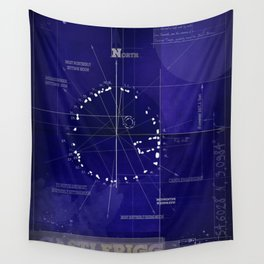 Druids Circle, Castlerigg, Keswick, Cumbria blueprint Wall Tapestry