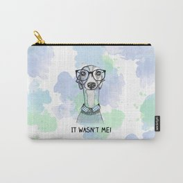 Greyhound with glasses Carry-All Pouch