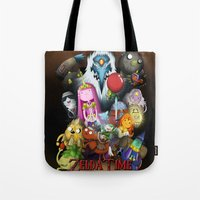 lemongrab Tote Bags featuring Zelda Time! by Yiji