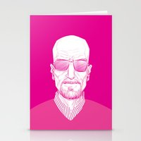 walter white Stationery Cards featuring Walter White by Ron Chan