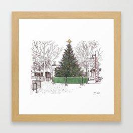 Davis Xmas Tree Framed Art Print