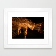 Candy Cane Lane Oh Deer Framed Art Print