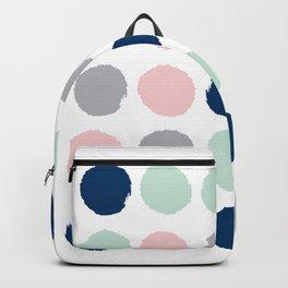 Minimal painted dots gender neutral home decor minimalist nursery baby polka dots Backpack