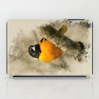 baltimore iPad Cases featuring Baltimore Oriole Watercolor Painting by Christina Rollo