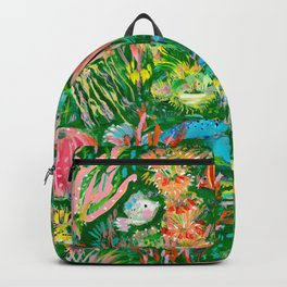 It's a sea green world Backpack