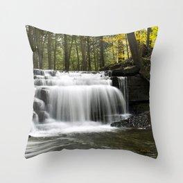 Waterfalls Landscape Throw Pillow