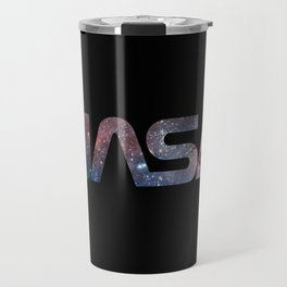 NASA font Travel Mug