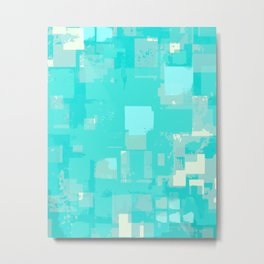 Three Pixels Metal Print