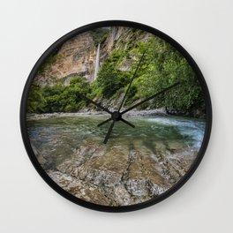 Waterfall in beautiful Okatse Canyon in Georgia, Europe Wall Clock