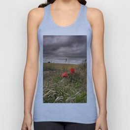 Poppies At Northbourne Unisex Tank Top