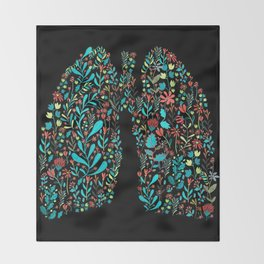 lung life Throw Blanket