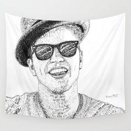 BrunoMars - Word Art Wall Tapestry