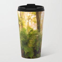 Large fern in mystical forest Travel Mug