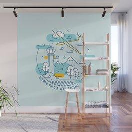 GVVT - Line art colors version Gruppo Volo a Vela Ticino Wall Mural