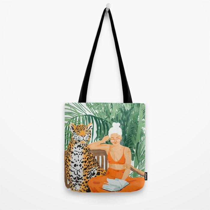 Jungle Vacay #painting #illustration Tote Bag