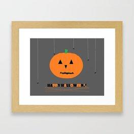 Happy Halloween Pumpkin Framed Art Print