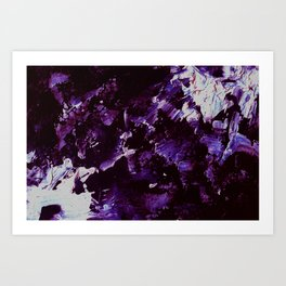 Splash In Purple Art Print