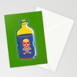 psychedelic poison bottle Stationery Cards