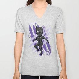 Black Panther (Splatter) Unisex V-Neck
