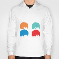 liverpool Hoodies featuring Fab 4 of Liverpool by Alexandra Gambaro