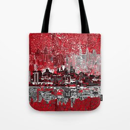 philadelphia city skyline Tote Bag