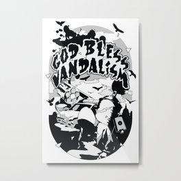 God bless vandalism Metal Print