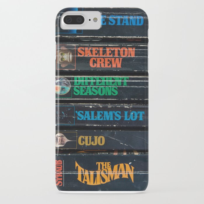 stephen king well-worn paperbacks iphone case