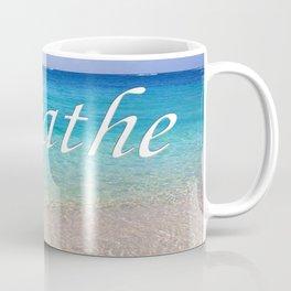 Breathe Cayman Relaxing Beach Waves Coffee Mug