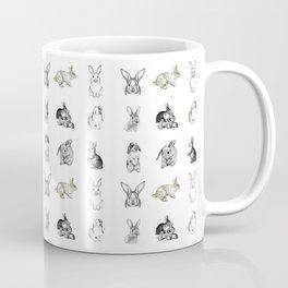 Vintage Bunny Rabbit Pattern Coffee Mug