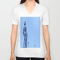 apollo V-neck T-shirts featuring Apollo Conversation by ExperienceTheFrenchRiviera