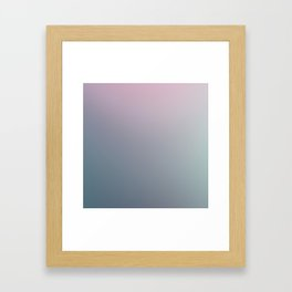 WATER WALL - Minimal Plain Soft Mood Color Blend Prints Framed Art Print