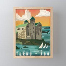 Turku Finland Framed Mini Art Print
