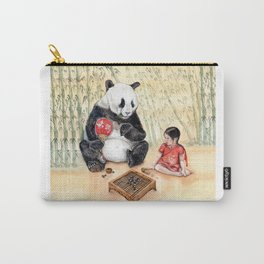 Playing Go with Panda Carry-All Pouch