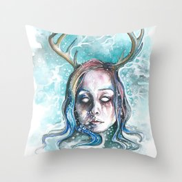 Strangely Christmasy Throw Pillow
