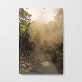 Volcano Outlet in Costa Rica Metal Print