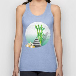 Meditation stones, bamboo and candles Unisex Tank Top