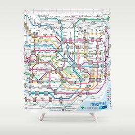 Tokyo Subway Map Shower Curtain
