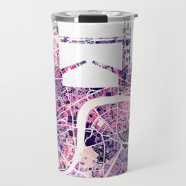 LONDON Skyline + map Travel Mug