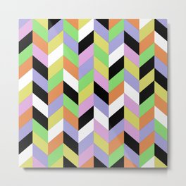 Stacked Colour Metal Print