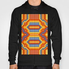 Woven Fabric Illusion On Printed Fabric Hoody