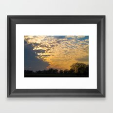 Country sunset Framed Art Print