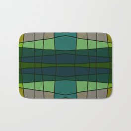 Green Pattern Turtle Bath Mat