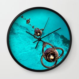 underwater mission in fractal Wall Clock