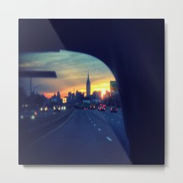 Taxi on the BQE Metal Print