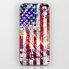 circuit board panel USA iPhone & iPod Skin