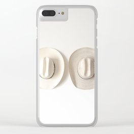 Cowboy Hat Wall Clear iPhone Case