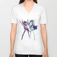 kill la kill V-neck T-shirts featuring Kill la Kill by sarlisart