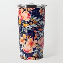 Navy Floral Travel Mug