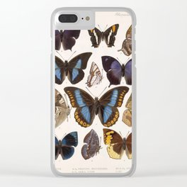 Vintage Scientific Insect Butterfly Moth Biological Hand Drawn Species Art Illustration Clear iPhone Case